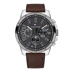 Tommy Hilfiger Reloj Multiesfera para Hombre de Cuarzo con Correa en Cuero 1791562