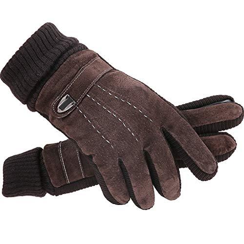 PLL Im Freien einfache braune Handschuhe Herren Winter -