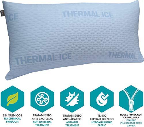 DHestia - Almohada Anticalor Refrescante Cara Verano y Cara Invierno de Fibra. FibraCool 120 cm
