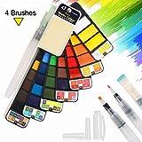 BBLIKE Aquarelllack-Set, 42 Colors - Professioneller Anzug aus Ton, Stoff, Keramikmalerei für Kinder und Erwachsene, reich an langanhaltenden Pigmenten - für Anfänger, Studenten und Künstler geeignet