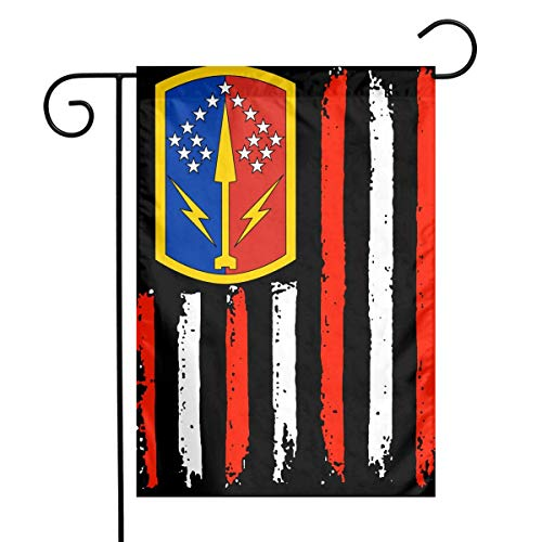 kjhglp USA Army Brigade 174 ADAInsignia Garden Flag House Banner for Party Yard Home Outdoor Decor