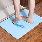 Unbekannt Rutschfeste Badematte Badteppich aus Mikrofaser Teppich für Badezimmer Kieselgur Saugmatten/35*45Cm(13.8*17.7 inch) SHOME