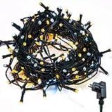 Lichterkette WISD Zwei Farben 23M 400 LED Beleuchtung für Innen und Außen mit EU Stecker von 31V Transformator auf Dunkelgrün Kabel für Weihnachten Garten Zuhause Hochzeit Deko (Warmweiß+Weiß)