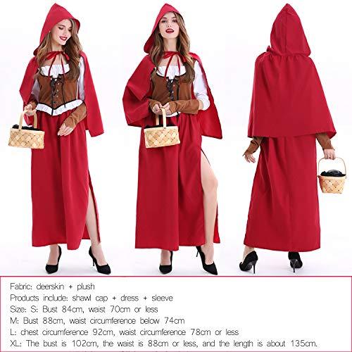 WSJYP Cos Rotkäppchen Prinzessin Kostüm Rotkäppchen Mädchen Dienstmädchen Kostüm Party Performance Kostüm Für - Wolf Prinzessin Kostüm