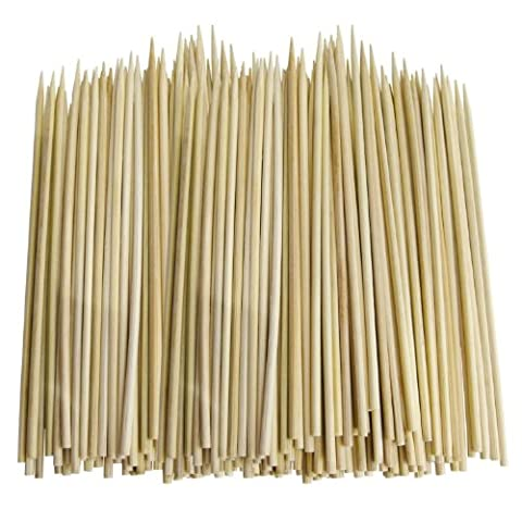 100 x Bamboo Skewers For Grill BBQ Kebab Fruit Chocolate Fountain Fondue Wooden Satay SticksCocktail Party 8