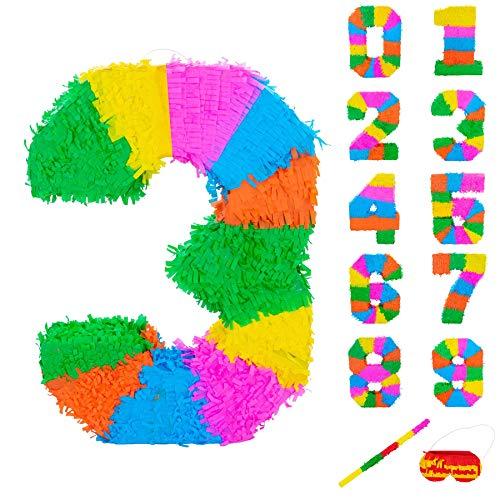 Fax Kartoffel Nummer 3 Pinata Set mit Stick & Blindfold - 50 x 7,5 x 35 cm - Rainbow