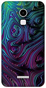 The Racoon Grip violet fluid swirl hard plastic printed back case / cover for Coolpad Note 3
