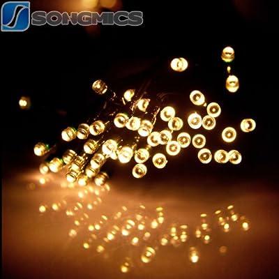 11M 7-Farben 60 LEDs Solar LED Lichterkette Streifen Strip Solarleuchte Warmweiß FSL50N