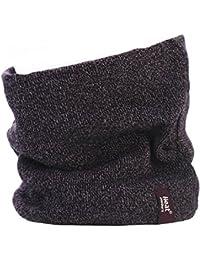 Mens GENUINE Thermal Fleece Winter Warm Heat Holders tog rating of 2.6 - Neck Warmer Snood Burgundy