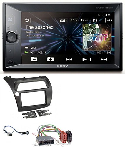 Sony XAV-V631BT 2DIN MP3 USB Bluetooth AUX Autoradio für Honda Civic (2006-2012) (Honda Civic 2007-navigation)
