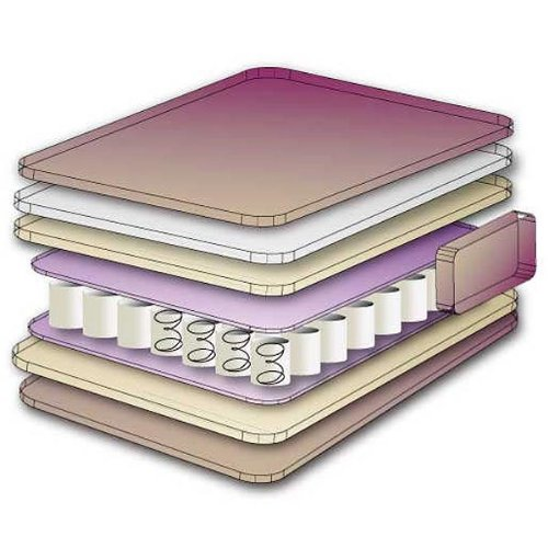 Matratze Kinderbett - Taschenfederkern - 140 x 70 x 10 cm