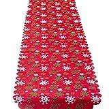 Liny Weihnachts Tischläufer Tischtuch Rechteckige Tischdecke Verzierun Weihnachtsfeier Dekoration,35 X175 CM(13.77 X 68.89)