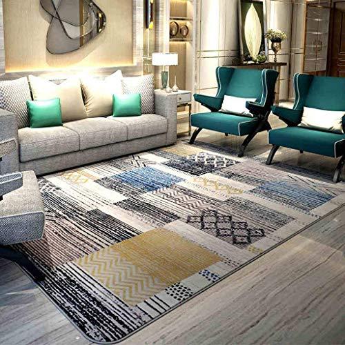 Zqg tappeto moderno in pelle scamosciata per camera da letto con tavolino da salotto (colore : 130 * 190cm(51.18 * 74.80in))
