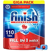 Finish Powerball Pastiglie Lavastoviglie All in 1 Max, Regular, 110 Tabs, 1800 g