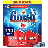 Finish All in 1 Max Pastiglie Lavastoviglie, Regular, 110 Tabs