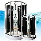 AcquaVapore QUICK16-0300 Dusche Duschtempel Komplette Duschkabine 80x80, EasyClean Versiegelung der Scheiben:Nein! +0.-EUR