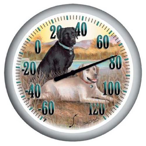 Springfield Precision Instruments Model 90007-6013.25Labradors Low Profile Patio Thermometer by Taylor Precision Products -
