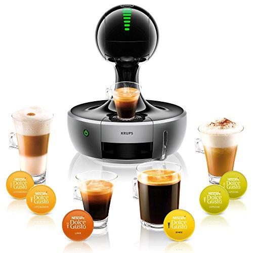 Kaffeekapselmaschine Krups KP 350B Nescafé Dolce Gusto Drop Kaffeekapselmaschine (1500 Watt, automatisch) silber -
