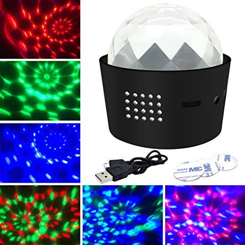 Bangcool DJ-Party-Licht-Stadiums-Lampe der Disco-Kugel Wieder aufladbare Sprachsteuerung für Auto-Bar (Licht Bars Strobe)