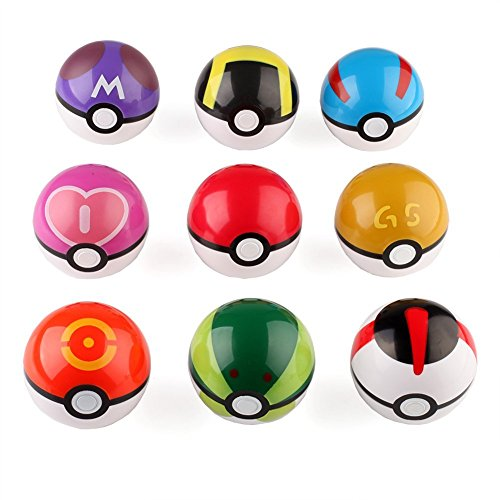 VERY100 Pokemon Pikachu Pokeball Master-Ball Cosplay Poke Super Ball Pokeball (9 stück)
