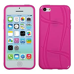 MYBAT Basketball Texture Candy Skin Cover for iPhone 5C - Retail Packaging - Hot Pink