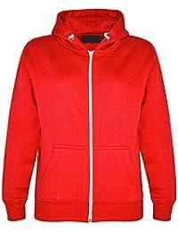 GG Jungen Mädchen Kinder Plain Fleece Zip Langarm Hoodie Sweatshirt Jacke
