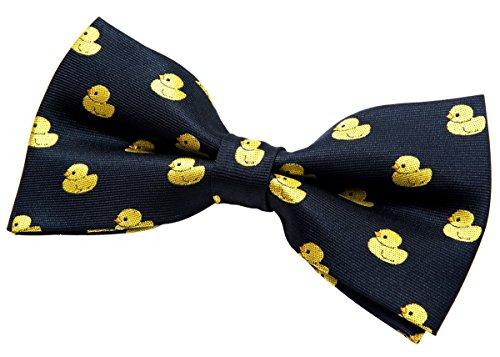 Moño premontado Retreez para corbata, diseño de patito de goma, varios colores, 12,7cm negro negro Talla única