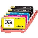 Mycartridge 5 kompatibel HP 364XL 364 XL Druckerpatronen für HP Photosmart 5510 5520 6520 7510 7520 HP Deskjet 3070A 3520 (Schwarz/Cyan/Magenta/Gelb)
