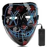 AIWOGEP Halloween la Maschere, LED Illumina la Maschere,per Halloween Cosplay Feste del Partito Halloween...