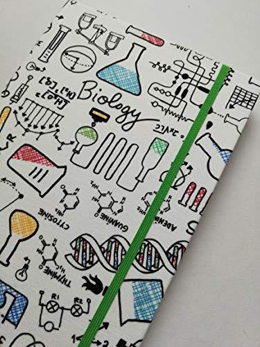 """Notizbuch Tagebuch Kladde Projektbuch A5 Hardcover stoffbezogen""""Sciences"""" Geschenk Weihnachten Ostern Geburtstag Abschluss Abitur Diplom Prüfung Gastgeschenk"""