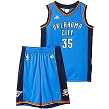 adidas Y JRSY/Short - Chándal para niño, color azul / naranja / blanco, talla 176