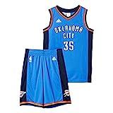 adidas Kinder NBA Oklahoma City Thunder Basketball-Set, Blue, 152