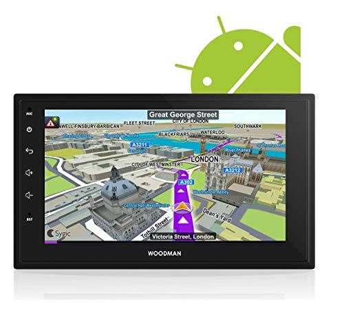 Woodman Neo1 Android 8.0 with Gorilla Glass Universal Car Stereo with Bluetooth/WiFi/GPS Navigation & USB Touch Screen Double Din (Full HD) (1 GB/ 16 GB)