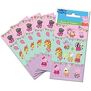 Paper Projects- Peppa Pig Festival of Fun Party - Adhesivos para bolsas (6 hojas) (01.70.15.045)