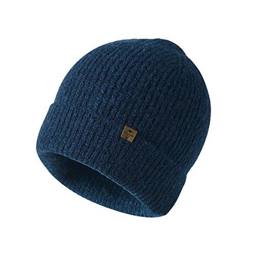 TRIWONDER Winter Knit Beanie Skull Cap Wolle warme Slouchy Hut Watch Hut Männer Frauen (Marineblau - Flanging) Watch Cap