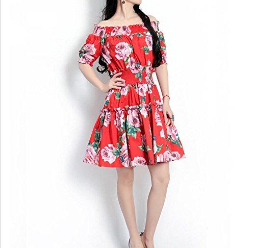 YAN Frauenkleider Schulterfrei Sexy Kurzes Kleid Brautjungfer Abendkleid Frühling Und Sommer Frauenkleidung (Größe : S)