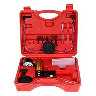 Amazingdeal365 HandHeld Brake & Clutch Bleeder Tester Set Bleed Kit Vacuum Pump Car Motorbike Moped Motor Bike Bleeding