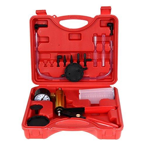 Amazingdeal365mobiler Bremsen- und Kupplungs-Entlüfter, Vakuumpumpe, Tester für Motorrad, Moped, Motor, Bike, Bleeding