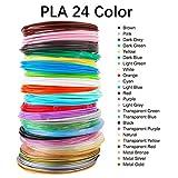 3D Stift Filament 3D Druckmaterialien 24 Farben 3M PLA Filament 1.75mm für 3D...