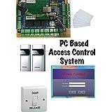 4System- de porte Système de contrôle d'accès de porte professionnel avec Samsung Lecteur de carte de proximité RFID () et logiciel de gestion de porte ordinateur TCP/IP///Base.