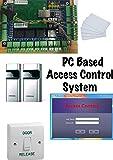 2tür Farbsystem Professional Tür Access Control System mit Samsung Nähe Kartenleser (RFID) & Tür Management Software-Computer TCP/IP-.