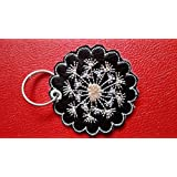 Schlüsselanhänger, Taschenbaumler, Kunstleder, Pusteblume