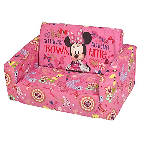 Disney Minnie Mouse Kids Foam Sofa Chair Flip ...