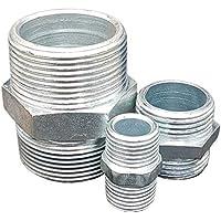 "Doble boquilla de acero galvanizado. Rosca de empalme galvanizada 1/8"" - 2 1/2"" EN10241 DIN2986"
