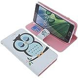 foto-kontor Tasche für Acer Liquid Z6 Plus Book Style Eulen blau Schutz Hülle Buch