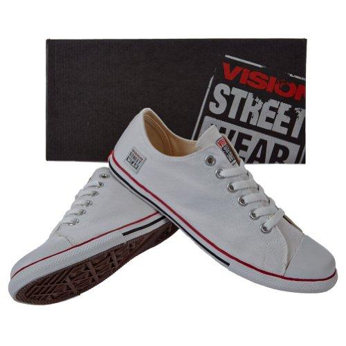 Vision Street Wear Scarpe Tela Classic Low Bianco