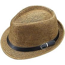 Outflower Sombrero de Paja de Tapa Plana para Niños de Primavera y Verano  Gorra de Protección c9ae08cc9e5