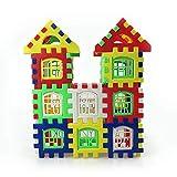iUcar 24 stücke Bausteine DIY Montage Haus Modell selbstsichernde Getriebe Bricks Spielzeug