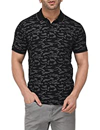 Vivid Bharti Collar Black Printed T-Shirts