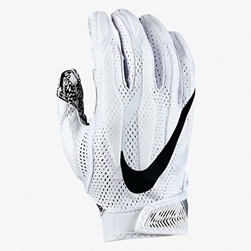 Nike Superbad 4.0 American Football Receiver Handschuhe - weiß Gr. S (Nike Football Handschuhe Gepolstert)